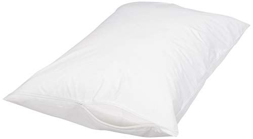 AmazonBasics Hypoallergenic Protector Cover Pillow Case - 21 x 31 Inches, Queen (Bed Single Pillow)