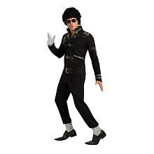 Pop Stars Halloween Costumes 2016 (Rubie's Costume H/S Bad Black Buckle Jacket, Medium, Medium)