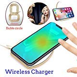 Wireless Charger, ONIPU Qi Wireless Charging Pad with Mirror Support 9V/1A Fast Charging for All Qi Enabled Phone(Glod)