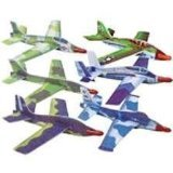(12 Jet Fighter Gliders Military Airplanes)