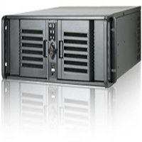 Black iStarUSA Cost-Effective 2U Rackmount Chassis , Removable & Wash