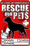 OLS Studios Magnet Rescue Pets Decal 3.6