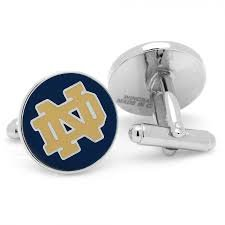 Notre Dame Fighting Irish Logo Cufflinks Licensed by NCAA