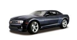 Car Metallic Diecast Blue (Metallic Blue 2010 Chevrolet Camaro Ss Rs 1:18 Scale Die Cast Car)