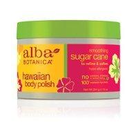 Alba Botanica Smooth Sugar Cane Hawaiian Body Polish, 10 Ounce Tub ()