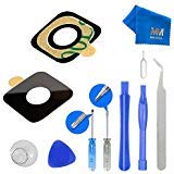 MMOBIEL Back Rear Camera Real Glass Lens Cover Replacement Complet Set for HTC ONE M9 + Pre-Installed 3M Adhesive +Toolkitfor HTC + MMOBIEL Cleaning Cloth