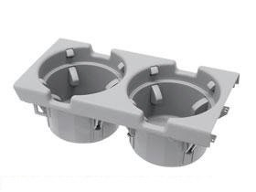 BMW e46 dual Cup Holder Center Console (Gray) OEM 3-series cupholder armrest