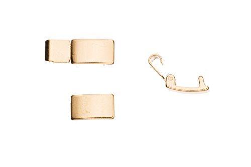 Bracelet Buckle/Watch Clasp Fold-Oval Buckle 14K Gold Finished Copper, 10x6mm sold per -