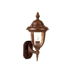 Acclaim Lighting 3502BW Monterey - One Light Outdoor Wall Mount, Burled Walnut Finish with Clear Seeded Glass
