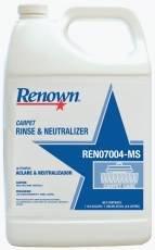 Renown REN07004-MS Carpet Rinse & Neutralizer, 1 gallon, 4 Per Case-Sx-0463853