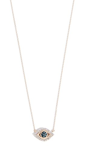 Adina Reyter : Jewelry Necklaces - Adina Reyter Women's 14k Gold Tiny Pave Evil Eye Necklace, Yellow Gold, One Size