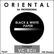 Oriental Seagull VC-RCII RP Pearl Cool Tone 8x10 100 Sheets Photographic Paper, White/Black (18-RVC810-100P) by Oriental Seagull