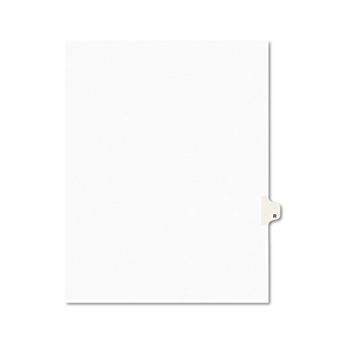 Avery Legal Dividers, Premium Individual Tab Titles, Letter Size, Side Tabs, R, Pack of 25 (Avery Individually Lettered Tabs)