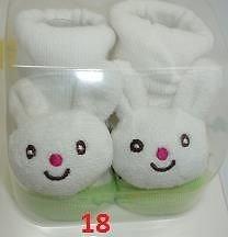 TechnoTec® Recién Nacido Bebé interior algodón antideslizante cálido calcetines animales dibujos animados zapatos zapatillas 8 White Rabbit 18 Rabbit