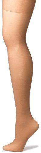 No Nonsense Women's Regular Reinforced Toe Pantyhose, 4 Pair Pack, Tan, Plus ()