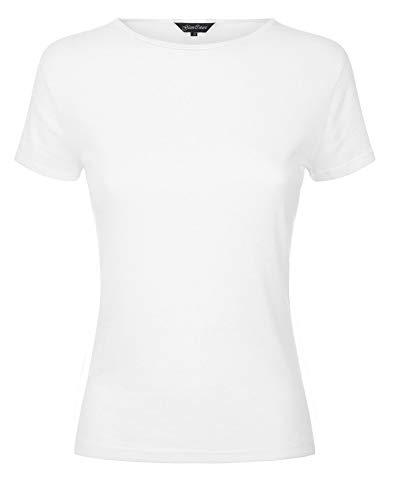 (Papaval Kids Plain Basic Top Short Cap Sleeve Girls Boys T-Shirt Tops Crew Uniform)