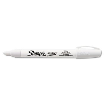 Sanford 35558 Sharpie Oil-Based Paint Marker, Medium Point, White, (Marker Medium Marker Point)
