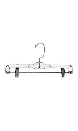 (SSWBasics 14 inch Clear Plastic Skirt and Pants Hangers - Pack of)