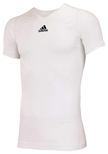 adidas Climacool Primeknit Techfit Mens Performance Compression Jersey White Large (Adidas Shirt Futbol)