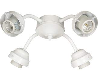 Craftmade F400l Aw 4 Light Fitter Antique White