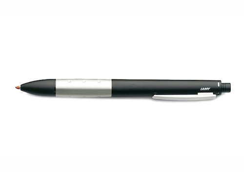 LAMY Multi-System Ballpoint Pen, Mechanical Pencil, Marker & Touch Screen Pen, Matt Black Lacquer (L497-3)