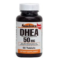 DHEA 50 mg d'énergie Améliorer compléments alimentaires en comprimés, par Sundown - 60 Ea