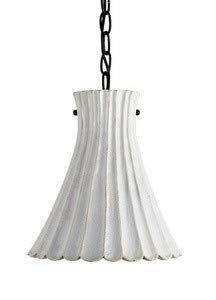 Currey Company 9901 Pendant with Terracotta White Crackle Shades, Satin Black - Cotta Transitional Terra