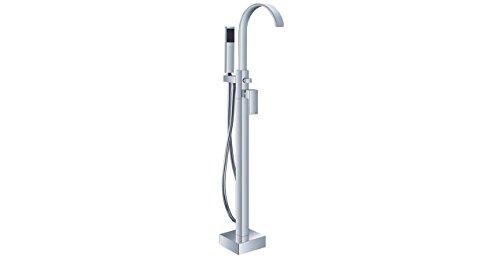 (Kardiel HB-FSF Snoqualmie Gooseneck Modern Tub Faucet, Chrome with Hand Shower)