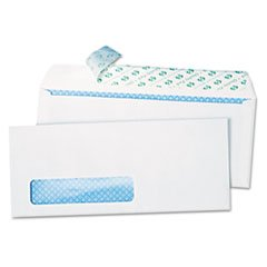 -- Redi-Strip Security Tinted Window Envelope, Contemporary, #10, White, 1000/Box