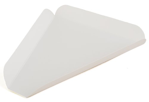 (Southern Champion Tray 1480 Paperboard White Pizza Slice Wedge, 8-7/16