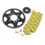 2009-2014 Suzuki LTZ400 Z400 Yellow Non O Ring Chain & Sprocket Black 14/40 96L