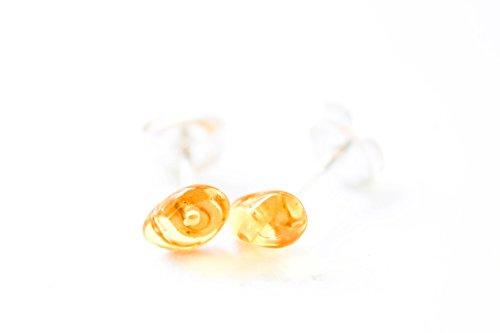 Amethyst Cluster Heart Post Earrings - 9