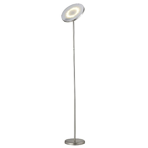 Mane LED Torcherie Floor Lamp - Energy Efficient Touch Activated Dimmable 15 W Lamp - Tall Uplight Standing Pole Lamp with Modern Minimalist Design - for Living Rooms, Bedrooms, Dorms, and Offices