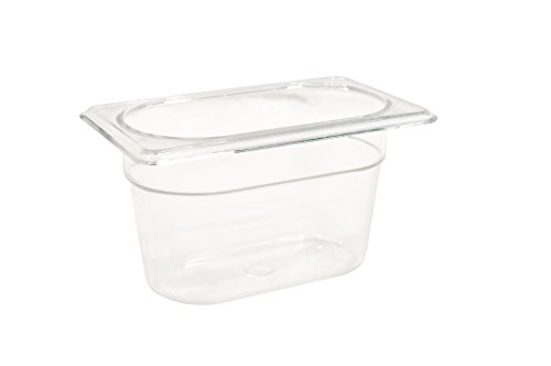 Rubbermaid Commercial Products FG101P00CLR Cold Food Pan, 4