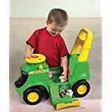 (John Deere Sit N Scoot Plastic Preschool Tractor Ertl Age 12M - TBEK35206)