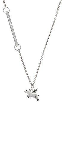 Flying Pig Custom Engraved Delicate Bar ()