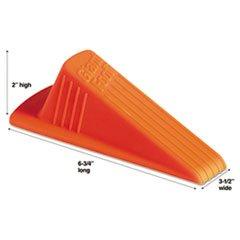 Giant Foot Doorstop, No-Slip Rubber Wedge, 3-1/2w x 6-3/4d x 2h, Safety Orange