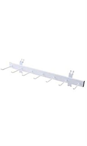 Single Pc Multi Hook White Belt and Tie Display Rack for Wire Grid/Slatwall by Display Rack for Wire Grid/Slatwall