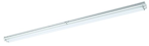 Lighting by AFX S272HOE12 Commercial Grade High Output 2-72 Watt T12 Light Strip, White Enamel Steel Chassis by Lighting by AFX