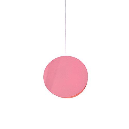 Personnalité scandinave Single Head Lustre en fer géométrique en fer Lustre décoratif décoratif Creative Restaurant Lampe suspension pour restaurant Blanc Jaune   Rouge (conception   1)
