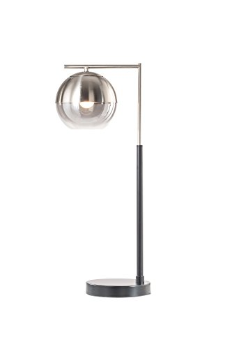 NOVA of California 1011062A Orson Contemporary Metal Table Lamp with Touch 4-Way Switch, Perfect Bedside Nightstand Light or for Living, Den, Family Room, Office, Silver (Accent Table Lamp Nova Lighting)