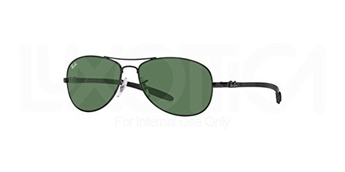 Ray-Ban RB8301 - BLACK Frame CRYSTAL GREY MIRROR Lenses 56mm - Rb 8301