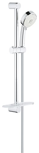 GROHE 27577002 Tempesta Cosmopolitan 100 4 Spray Shower Rail Set, Starlight ()