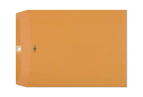 Clasp Envelopes - 10x13 Inch Brown Kraft Catalog Envelopes with Clasp Closure & Gummed Seal - 28lb Heavyweight Paper Envelopes for Home, Office, Business, Legal or School 30 Pack 10x13, Brown Kraft (Envelops Manila)