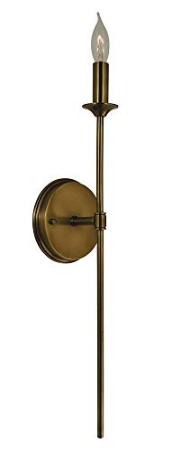 Framburg 1-Light Antique Brass Chandler Sconce (Framburg Outdoor Lamp)