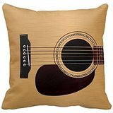 Spruce Top Acoustic Guitar Throw Pillows Custom Throw Pillow Case Personalized Cushion Cover Pillowcase Square Pillow Cover 18x18