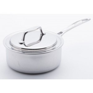 USA Pan 1505CW 8 Inch Sauce Pan with Cover, Silver, 2.75 Quart