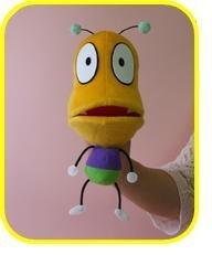Hand puppet Bottom Biting Bug (japan import)