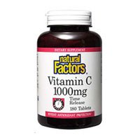 Vitamin C, 1000 mg, Time Release 180 Tabs by Natural Factors (Pack of 3) by Natural Factors