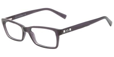 Armani Exchange AX3007 Eyeglass Frames 8005-53 - Black Transparent - Frames Armani Prescription